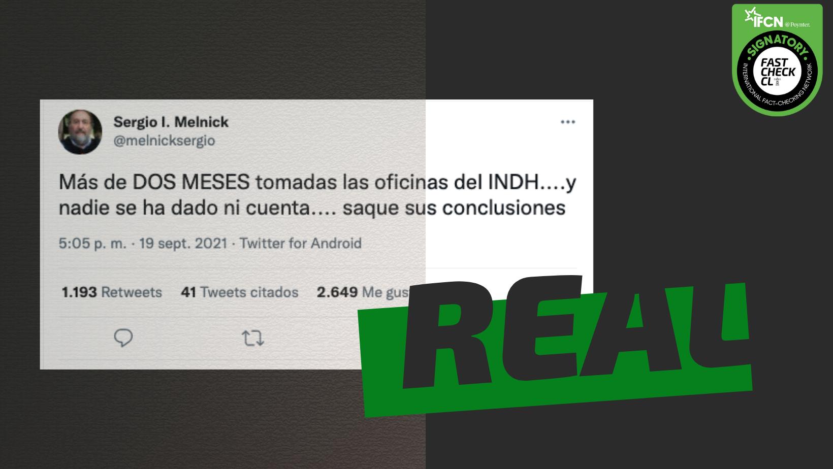 Read more about the article Oficinas del INDH están tomadas hace más de dos meses: #Real