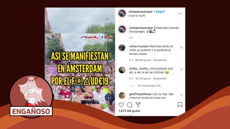 """Read more about the article (Video) """"Así se manifiestan en Ámsterdam por el fraude-19"""": #Engañoso"""