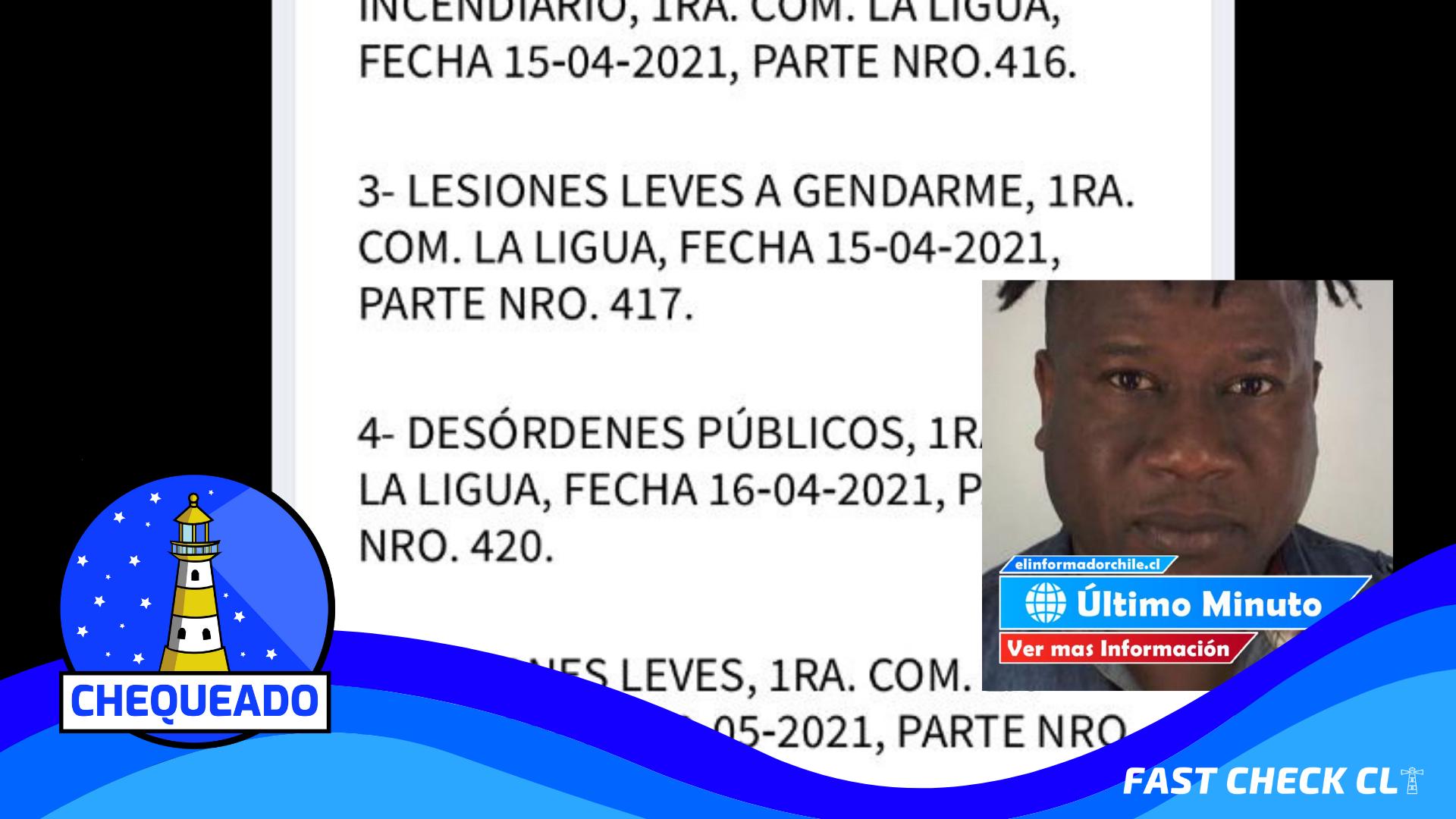 """Read more about the article (Imagen) """"Antecedentes del delincuente muerto"""": #Chequeado"""