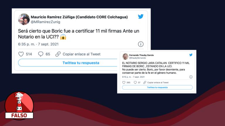 """Read more about the article """"El Notario Sergio Jara Catalán certificó 11 mil firmas a Boric estando en la UCI"""": #Falso"""