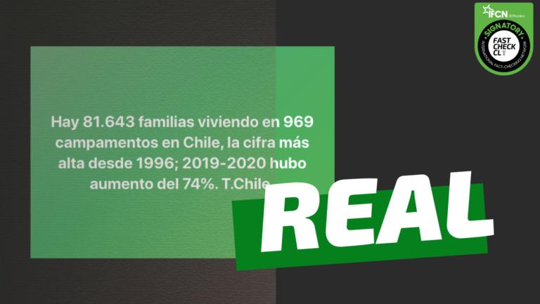 Read more about the article Hay 81.643 familias viviendo en 969 campamentos en Chile: #Real
