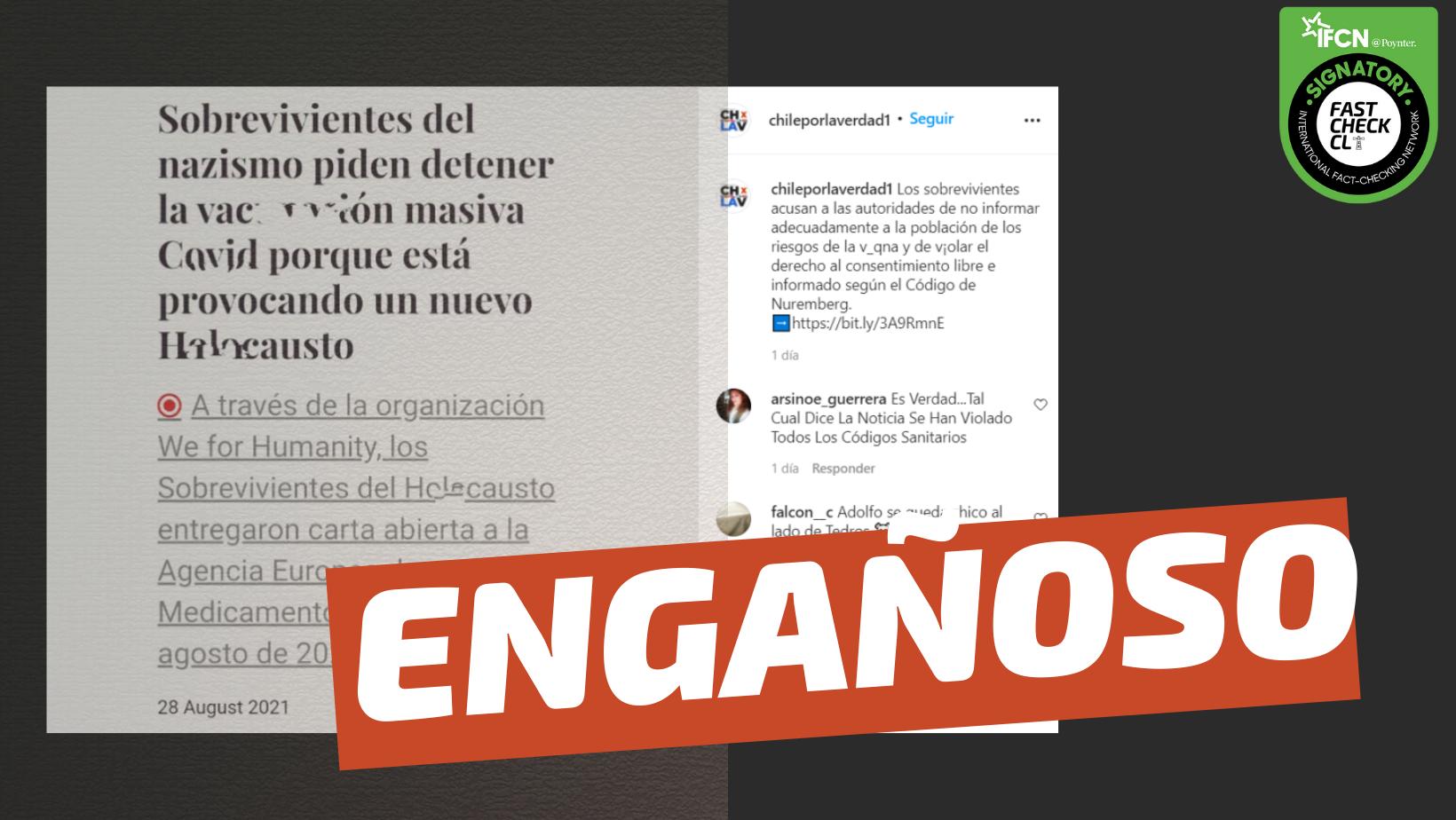 """Read more about the article Carta de holocaustos: """"Los 22 terribles efectos secundarios de las vacunas"""": #Engañoso"""