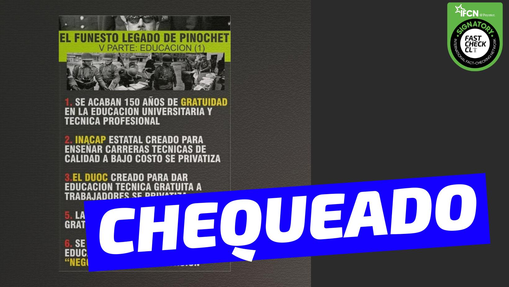 Read more about the article (Imagen) El legado de Pinochet en educación: #Chequeado