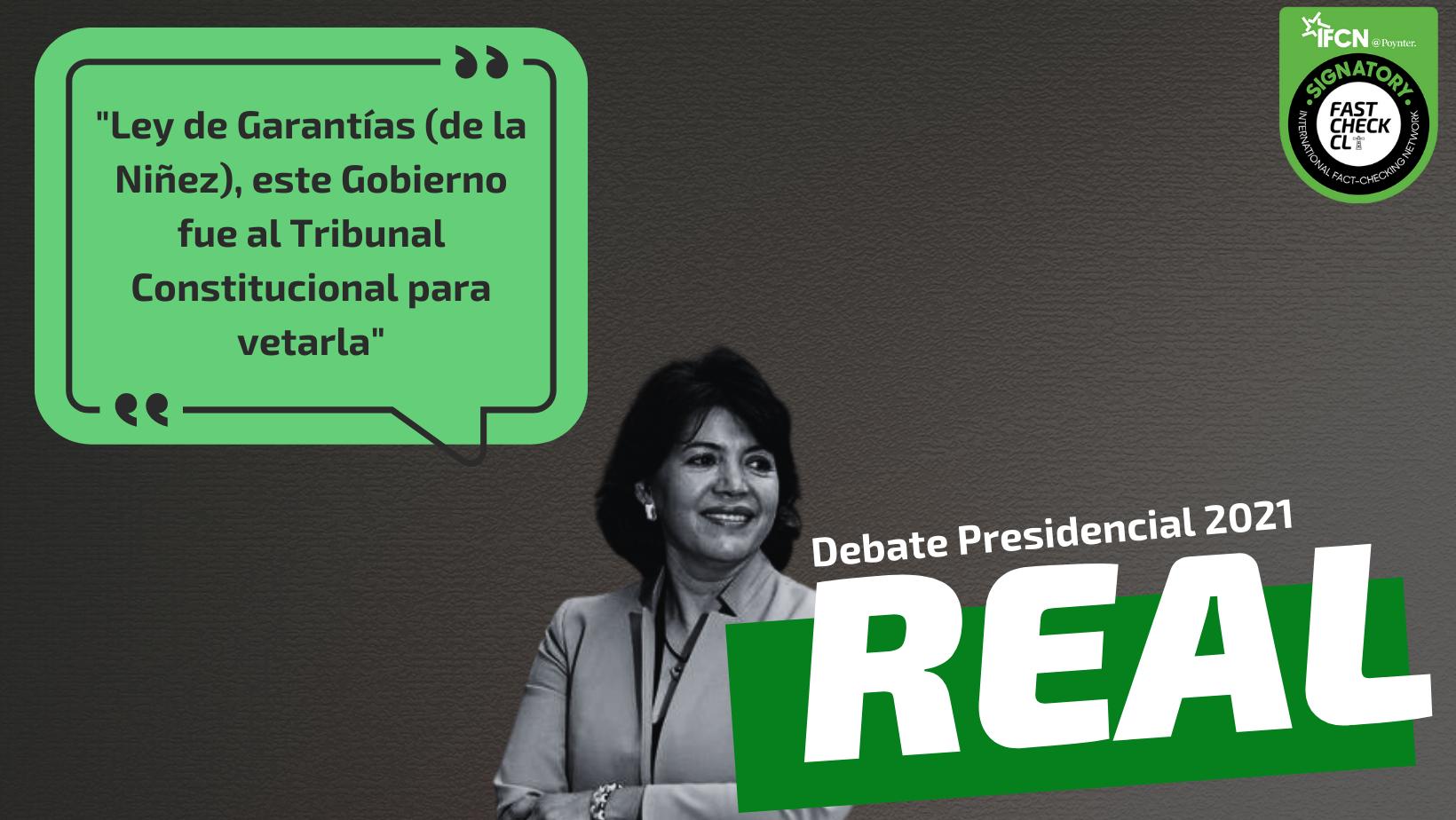 """Read more about the article """"Ley de Garantías (de la Niñez), este Gobierno fue al Tribunal Constitucional para vetarla"""": #Real"""