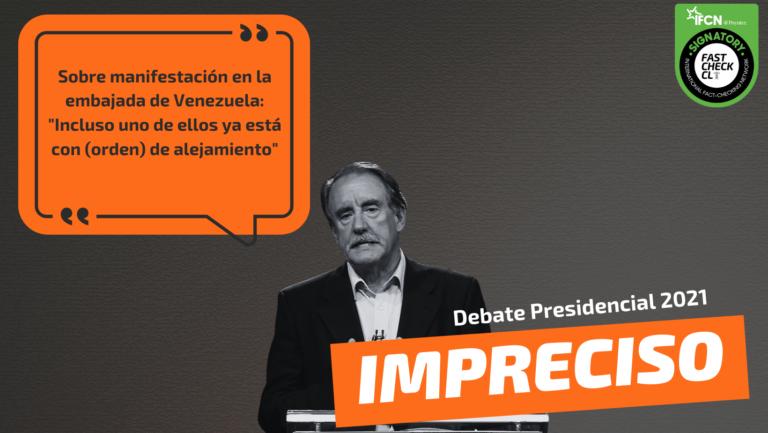 """Read more about the article Eduardo Artés sobre el vídeo discutiendo en la embajada de Venezuela: """"Incluso uno de ellos ya está con (orden de) alejamiento"""": #Impreciso"""