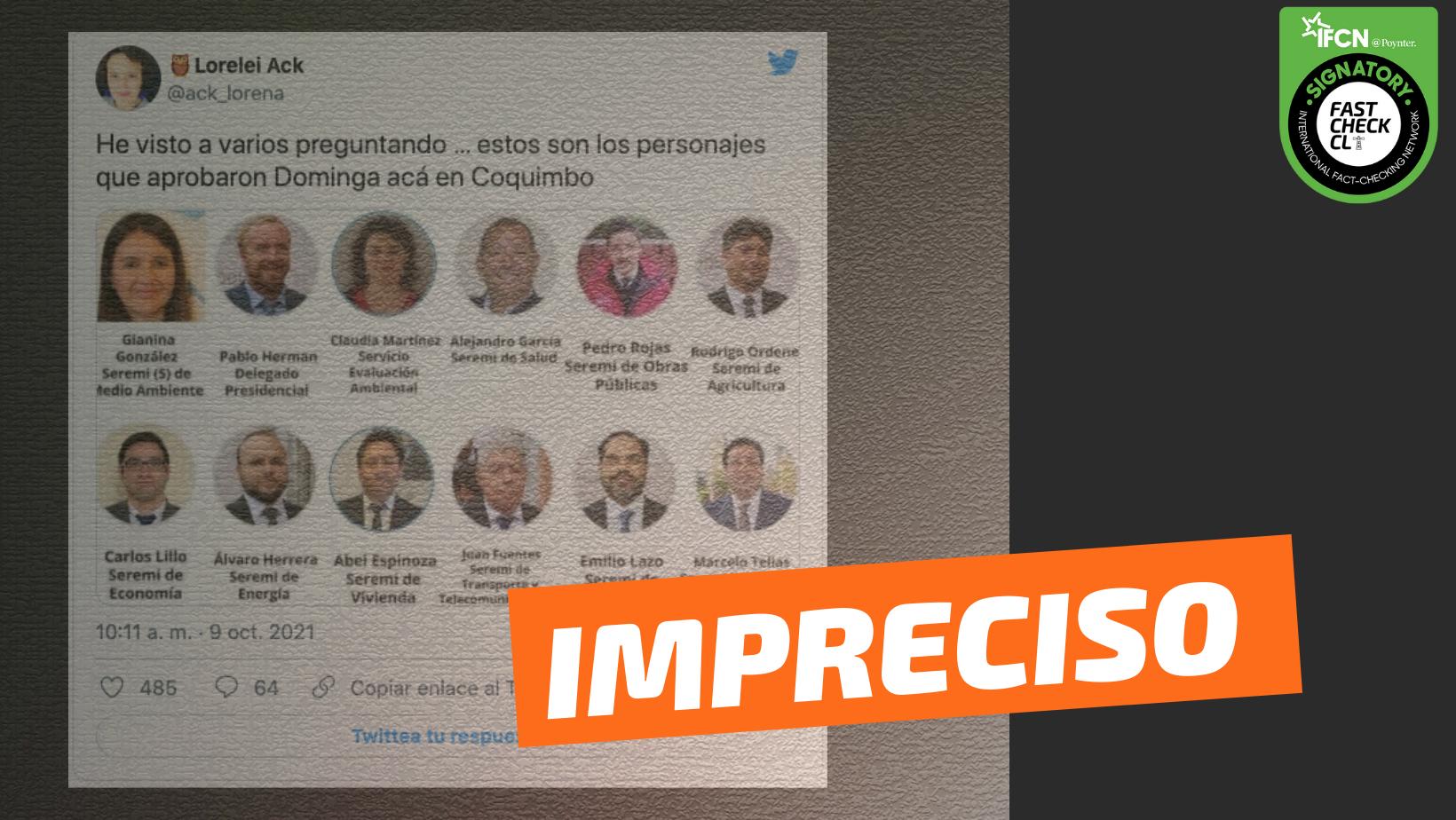 """Read more about the article (Imagen) """"Estos son los personajes que aprobaron Dominga acá en Coquimbo"""": #Impreciso"""