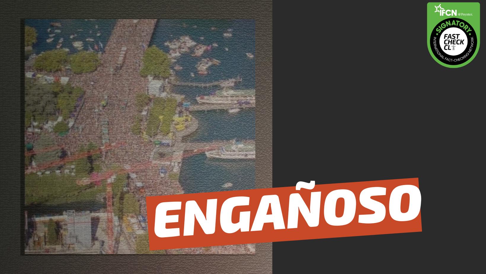 """Read more about the article (Imagen) """"Manifestación contra el green pass el 1 de octubre en Trieste, Italia"""": #Engañoso"""