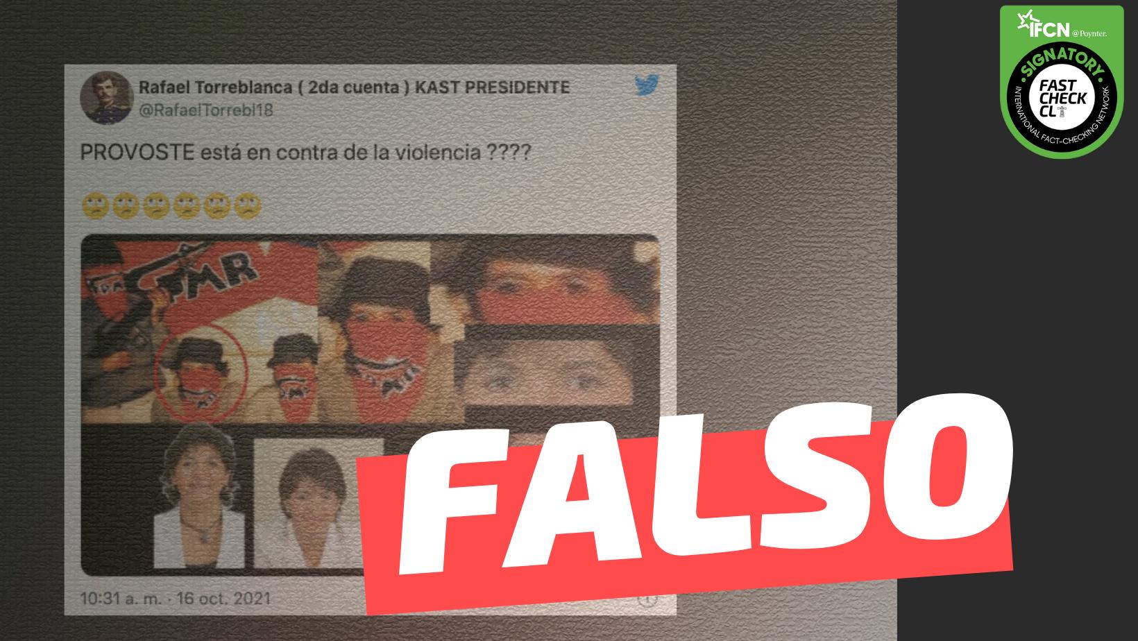 Read more about the article (Imagen) Yasna Provoste fue parte del Frente Patriótico Manuel Rodríguez: #Falso